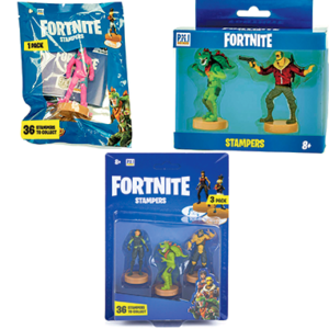 Fortnite stampers - 1,2 og 3 - 8cm figure