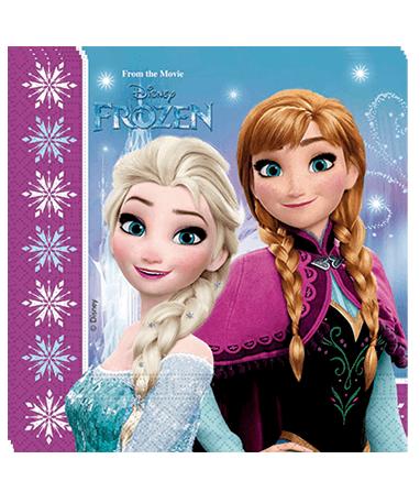 Frozen servietter 20 stk. - Frost - fødselsdagspynt