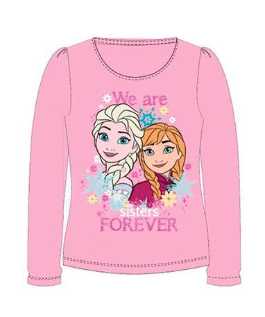 Frozen trøje til piger - lyselød - Elsa og Anna