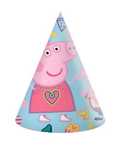 Gurli Gris fødselsdagshatte - 6 stk. - fødselsdagspynt