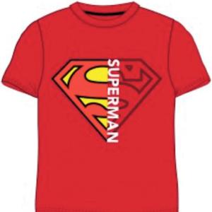Rød superman t-shirt til børn