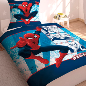 Spiderman sengetøj - 140x200cm - 70x90