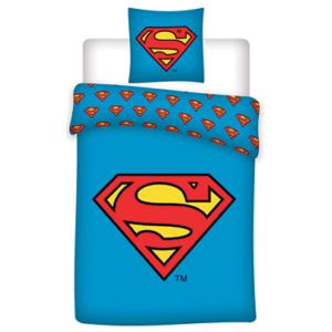 Superman sengetøj - 140x200cm - 70x90cm