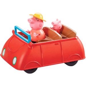 Gurli Gris bil - rød legetøjsbil