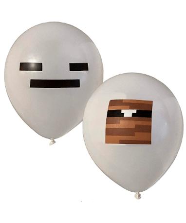 Minecraft balloner - Grå