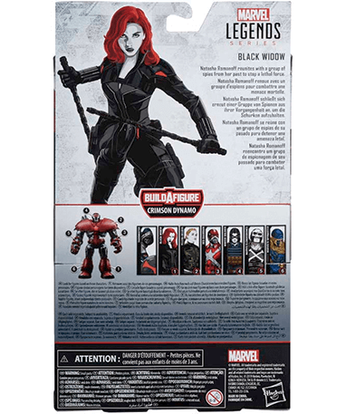 Black widow actionfigur - bagved