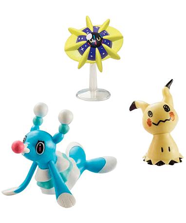 Mimikyu, Cosmoem og Brionne figur