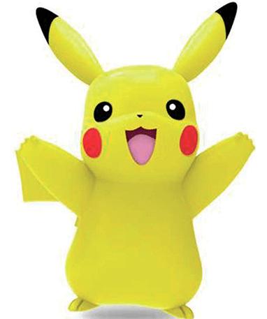 Pikachu figur -indstil op til 100 actions