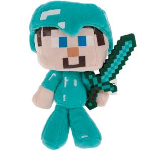 Minecraft bamse - Diamant rustning + sværd