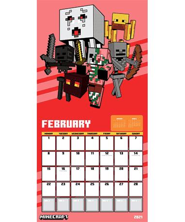 Minecraft kalender - Februar