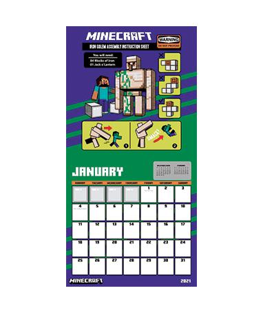 Minecraft kalender - Januar 2021