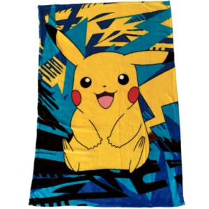 Pokemon tæppe 100x150cm - Pikachu