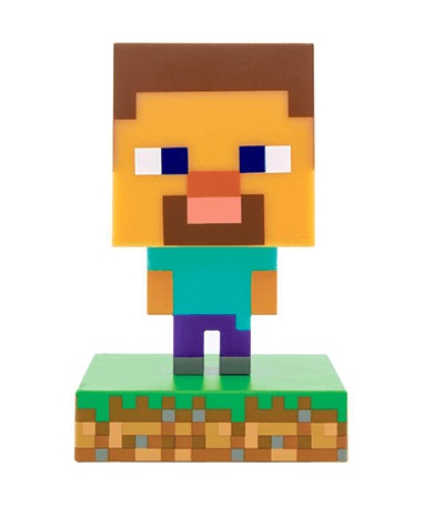 Minecraft Steve figur med lys