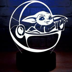 Baby Yoda 3D lampe - The Mandalorian