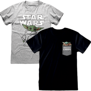 Baby yoda t-shirt til voksne - The Mandalorian - Star Wars