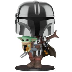 The Mandalorian figur med Baby Yoda - Funko pop