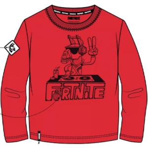 Fortnite lama t-shirt rød - 7-14 år