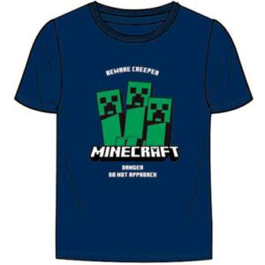 Minecraft mørkeblå t-shirt til børn