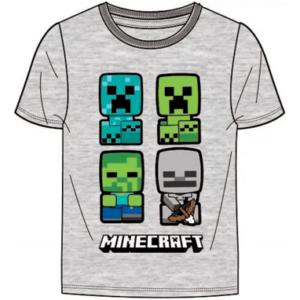 Minecraft t-shirt til børn - Grå