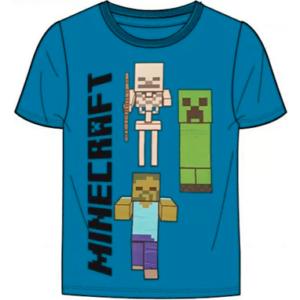 Minecraft t-shirt til børn - blå