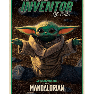 Baby Yoda plakat - Cute inventor - The Mandalorian