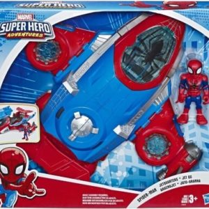 Spiderman jetfly og figur - Marvel