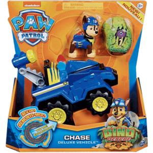 Paw Patrol Dino Deluxe Chase køretøj & Figur