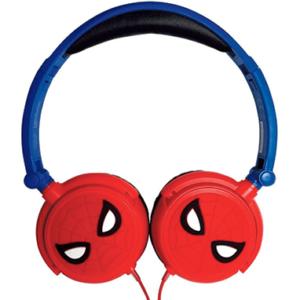 Spiderman høretelefoner - Rød og blå - Marvel