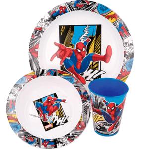 Spiderman morgenmadssæt til børn - Marvel