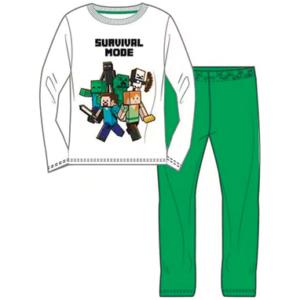 Minecraft langærmet pyjamas sæt - Hvid