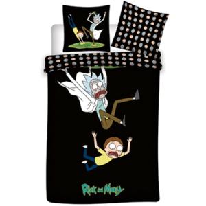 Rick & Morty sengetøj - 140x200cm - 65x65cm