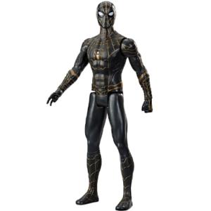 Spiderman 3 actionfigur - Guld & Sort dragt - Marvel