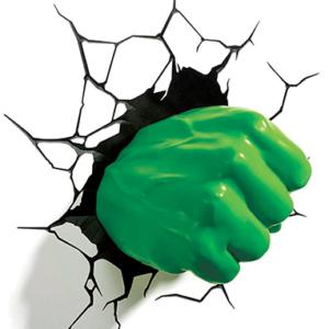 Hulk Knytnæve 3D LED lampe - Marvel