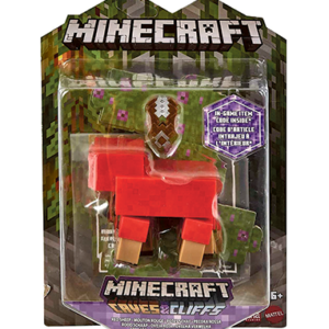 Minecraft Red Sheep actionfigur - 8cm