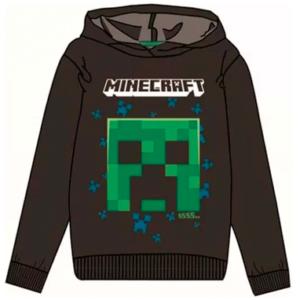 Minecraft hættetrøje til børn - mørk