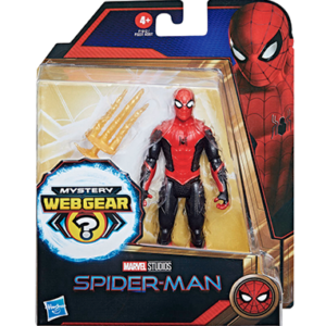 Spiderman 3 rød-sort dragt figur - No way home