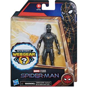 Spiderman figur - sort-guld dragt figur - No way home