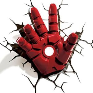 Iron Man Led 3D Hånd - lampe - Marvel